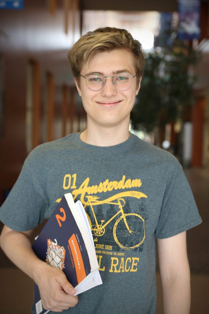 El alumno Nicolás B, ganador del concurso Pangea 2019